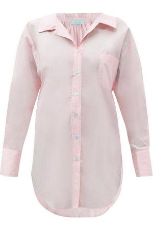 Mes Demoiselles Women Shirts - Scharade Longline Cotton-poplin Shirt - Womens - Light