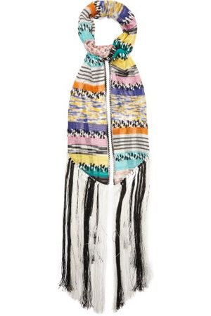 Missoni Women Scarves - Fringed Stripe Scarf - Womens - Multi