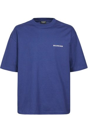 Balenciaga Men T-shirts - Logo Print Cotton T-shirt