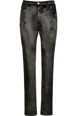 Balenciaga Men Stretch - 5 Pocket Stretch Velvet Pants