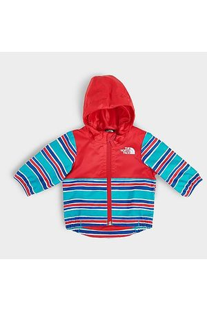 The North Face Infant Zipline Rain Jacket in /Meridian Blue Stripe Size 3 Month 100% Polyester