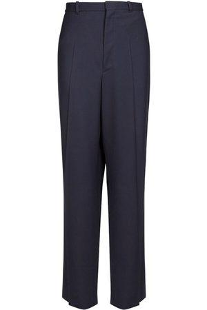 Balenciaga Men Formal Pants - Oversize Tailored Wool Twill Pants