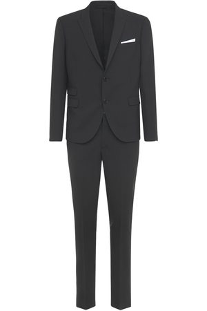 Neil Barrett Slim Stretch Wool Blend Gabardine Suit