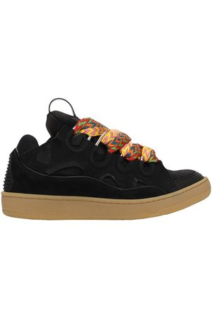 Lanvin Curb Leather Sneakers