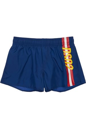 Dsquared2 Boys Swim Shorts - Logo Print Nylon Swim Shorts
