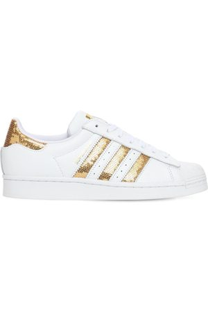 adidas Superstar Leather Sneakers W/ Sequins
