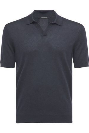 TAGLIATORE Silk Knit Polo