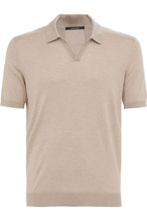 TAGLIATORE Men Polo Shirts - Silk Knit Polo