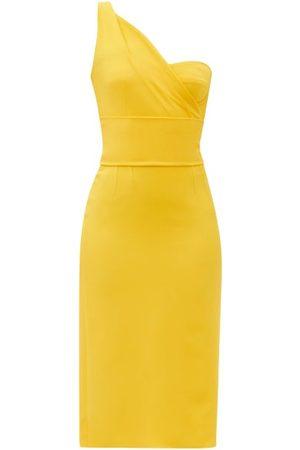 Dolce & Gabbana One-shoulder Cady Midi Dress - Womens