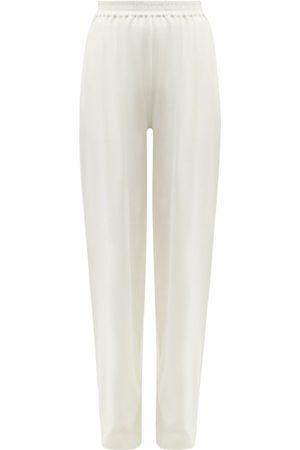 Joseph Women Wide Leg Pants - Wide-leg Cotton Paper-jersey Trousers - Womens - Ivory