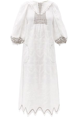 VITA KIN Women Midi Dresses - Addicted To Love Embroidered Linen Midi Dress - Womens