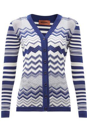 Missoni Women Cardigans - V-neck Jacquard-striped Cardian - Womens