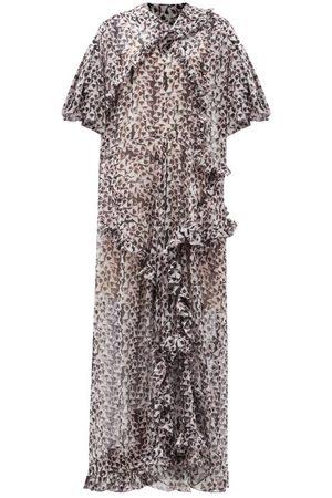 THORNTON BREGAZZI Botan Floral-print Recycled-fibre Georgette Gown - Womens - Multi