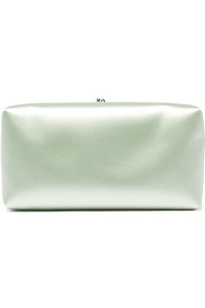 Jil Sander Padded Satin Clutch - Womens - Light