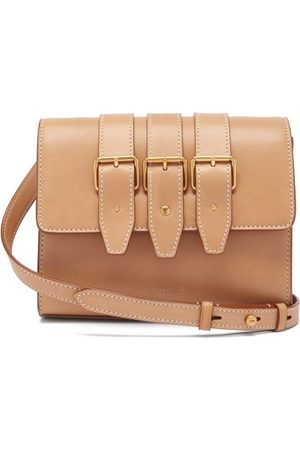 Saint Laurent Buckled Leather Cross-body Bag - Womens - Tan