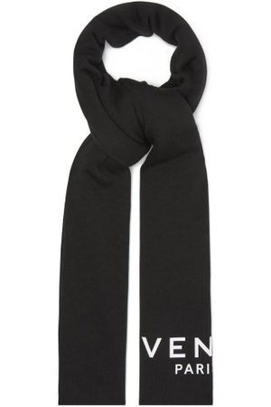 Givenchy Men Scarves - Logo-print Cotton-blend Scarf - Mens