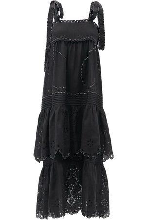 VITA KIN Charlotte Tiered Linen Dress - Womens