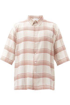Raey Short-sleeved Checked Shirt - Mens - Multi
