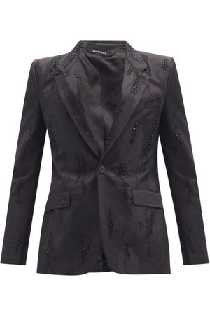 Givenchy Beaded Abstract-jacquard Single-breasted Blazer - Mens