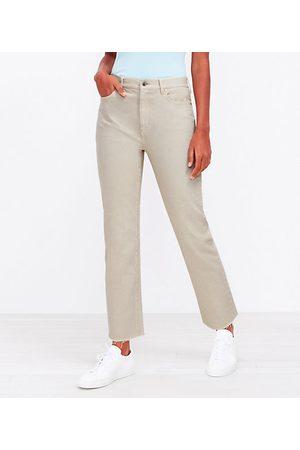 LOFT The High Waist Straight Crop Jean in Blush Shadow