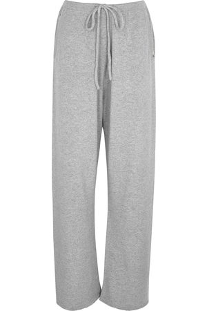 EXTREME CASHMERE N°142 Run grey cashmere-blend trousers