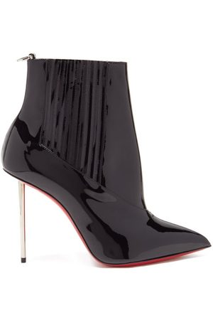 Christian Louboutin Epic 100 Patent-leather Ankle Boots - Womens