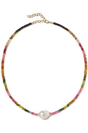 Joie DiGiovanni Multi Tourmaline Single BaroquePearl Gemstone Necklace