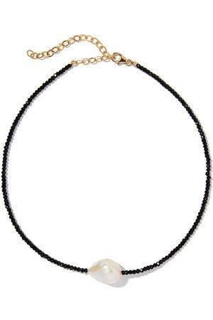 Joie DiGiovanni Spinel Single Baroque Pearl Gemstone Necklace