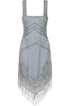 Frock and Frill Ireana Square Neck Embellished Flapper Dress