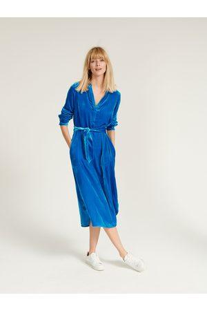 NRBY Women Casual Dresses - Maddie velvet shirt dress