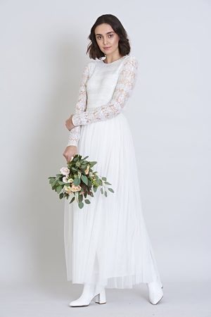 Frock and Frill Gardeina Sequin and Lace Stripe Maxi