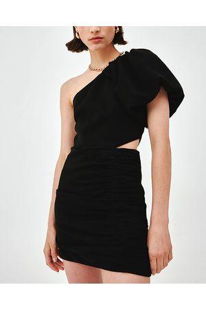 C/meo Collective Black Asymmetric Captive Dress