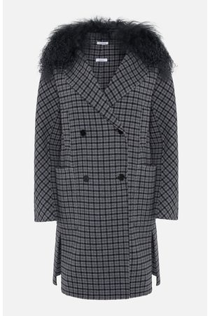 PAROSH Grey Check Double Breasted Coat