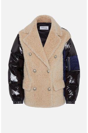 SYLVIE SCHIMMEL Bi-Material Short Caban Jacket