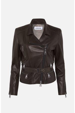 SYLVIE SCHIMMEL Women Leather Jackets - Brown Belted Leather Jacket