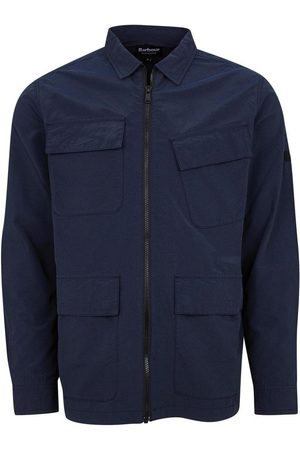 Barbour Rally Ripstop Overshirt in Navy MOS0140