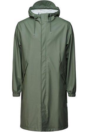 Rains Fishtail Zip Hooded Parka Olive