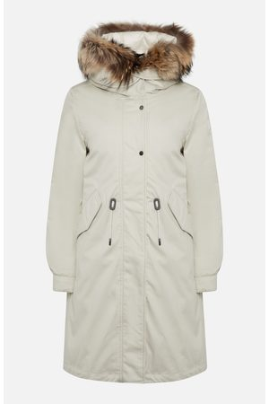 Woolrich Beige Hooded Military Parka