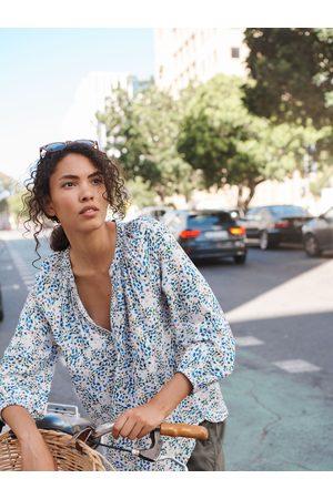 NRBY Livvie print drapey shirt