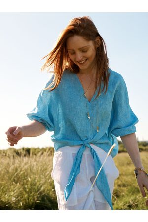 NRBY Women Shirts - Anya linen tie front shirt