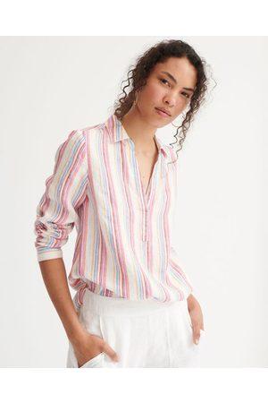 NRBY Chrissie linen stripe shirt