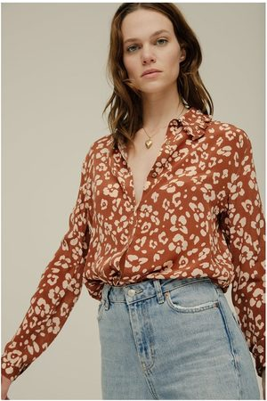 LILY AND LIONEL Women Shirts - Lily & Lionel Beth Floral Leopard Shirt