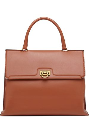Salvatore Ferragamo Trifolio Leather Satchel