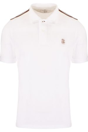 Brunello Cucinelli MEN'S M0T639625GCR794 OTHER MATERIALS POLO SHIRT