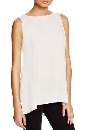 Eileen Fisher Eileen Fisher System Petite High/Low Silk Tank