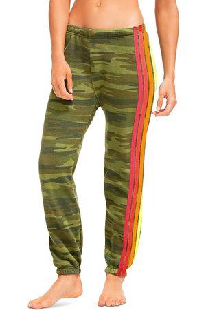 AVIATOR NATION Camo Print Side Stripe Jogger Pants