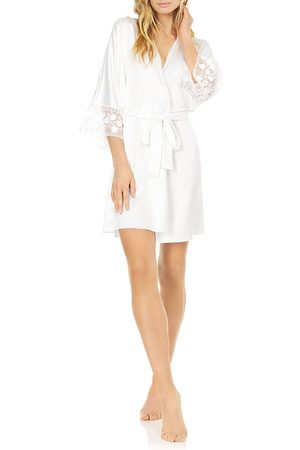 Flora Nikrooz Kylie Embroidered Wrap Robe
