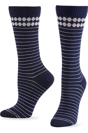 HUE Compression Crew Socks