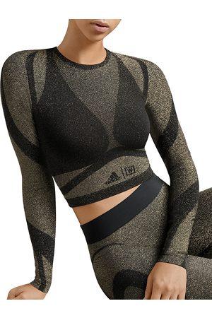 Wolford X adidas Studio Motion Metallic Long Sleeve Top