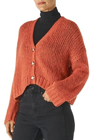 Whistles Merino Wool Cropped Cardigan